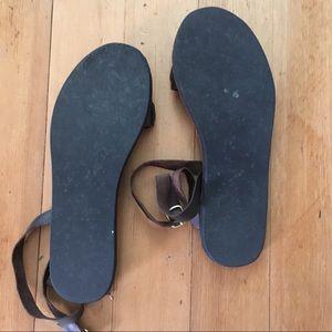 310a3cd5f0490 sseko designs Shoes - Espresso Brown Rue Leather Accent Sandals SSEKO